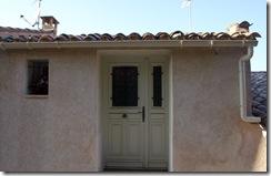 Création d'une ouverture : porte et fenestron en remplacement d'une fenêtre